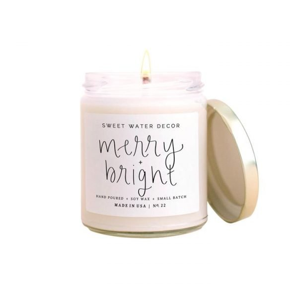 Sweet Water Décor Merry & Bright Candle
